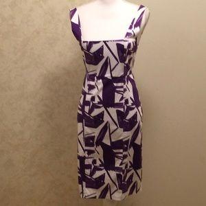 Alice & Olivia dress purple/white  size 6
